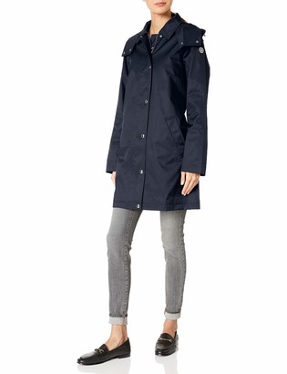 Tommy Hilfiger Women's A line Hooded Raincoat
