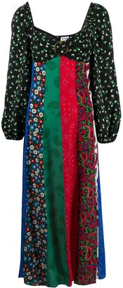 Rixo Ivy panelled midi dress