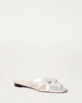 Loeffler Randall Eveline Strapy Flat Sandal Silver