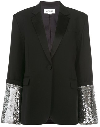 Monse Large Sequin Cuff Jacket