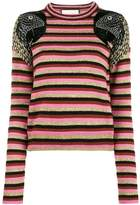 Gucci Parrot striped jumper