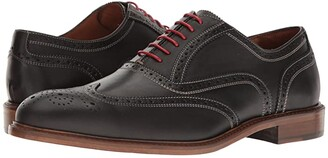 Massimo Matteo 6-Eye Wing Tip (Black) Men's Lace Up Wing Tip Shoes