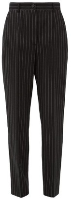 Dolce & Gabbana Chalk-stripe Slim-fit Wool-blend Trousers - Grey Multi