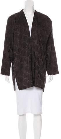 eskandar Jacquard Short Coat