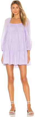 Alice + Olivia Rowen Tiered Square Neck Tunic Dress