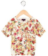 Paul Smith Girls' Floral Print Knit Top