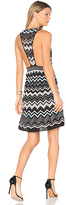 M Missoni Sleeveless V Neck Mini Dress in Black