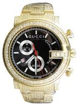 Gucci Ya101334 New Custom Mens 101 G Gold PVD Real 44mm Diamond 8.85 Ct Watch