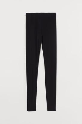 H&M Silk-blend leggings - Black
