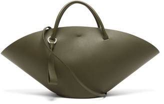 Jil Sander Sombrero Medium Leather Tote Bag - Womens - Khaki