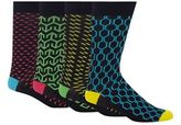 Red Herring Pack Of Four Multi-coloured Geometric Print Socks