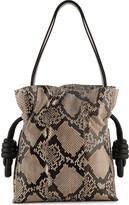 Loewe Flamenco knot python bag