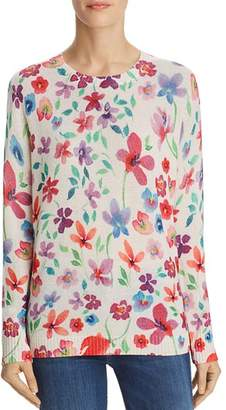 Bloomingdale's C by Floral Print Cashmere Sweater - 100% Exclusive