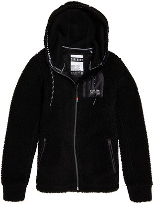 Superdry Urban Storm Zip-Up Hoodie in Teddy Faux Fur with Pockets