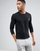 Emporio Armani Muscle Fit Sweatshirt With Shiny Logo