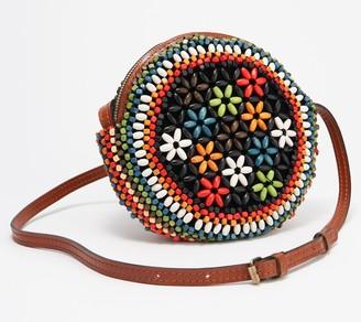 Patricia Nash Leather Beaded Circle Crossbody Bag - Scafati