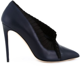 Olgana Satin Pleats Pumps