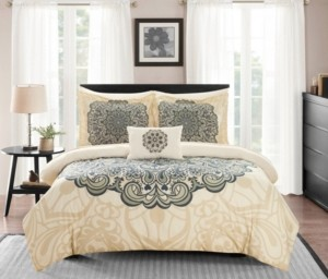 Chic Home Palmer 8 Piece Queen Bed In a Bag Comforter Set Bedding