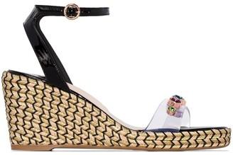 Sophia Webster multicoloured Dina 90 wedge sandals