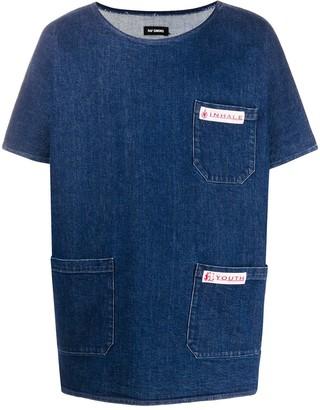 Raf Simons patch detailed denim T-shirt