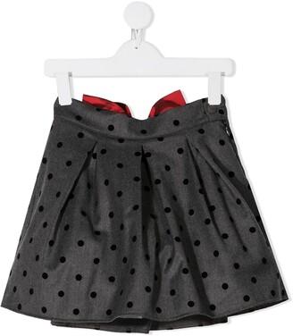 La Stupenderia Bow-Tie Polka Dot Skirt