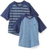English Laundry Blue Stripe V-Neck Tee & Henley - Toddler & Boys