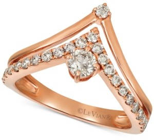 LeVian Le Vian Nude Diamonds Crown Ring (5/8 ct. t.w.) in 14k Rose Gold