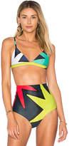 Mara Hoffman Triangle Bikini Top in Green