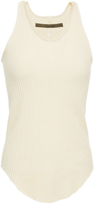 Enza Costa Ribbed Stretch-cotton Jersey Tank