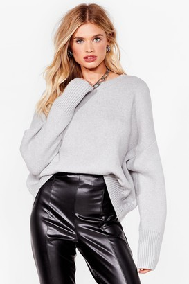 Nasty Gal Womens Oh Knit's On Chunky Sweater - Grey Marl