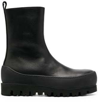Ann Demeulemeester Lio chunky-sole ankle boots