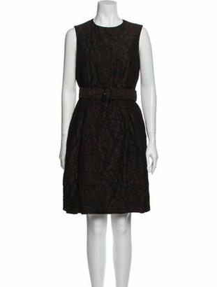 Burberry Printed Knee-Length Dress Brown