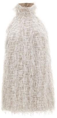 Taller Marmo Barbarella Halterneck Fil-coupe Dress - Silver