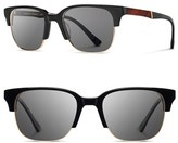 Shwood Men's 'Newport' Sunglasses - Black/ Mahogany/ Grey