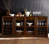 Pottery Barn Buffet with 1 double wine cabinet & 2 single cabinets