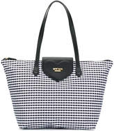 Twin-Set gingham heart tote bag