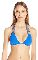 Trina Turk Women's Riviera Solid Triangle Slider Bra Bikini Top