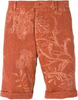 Etro floral print chino shorts - men - Linen/Flax - 48