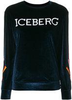 Iceberg heart sleeve jumper