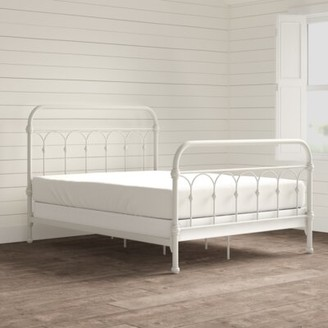 Three Posts Copake Low Profile Standard Bed Color: Distressed Antique White, Size: Full