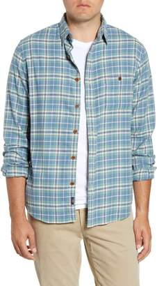 Faherty Seaview Regular Fit Plaid Button-Up Twill Shirt