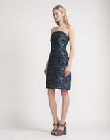 Cynthia Rowley Strapless Brocade Dress