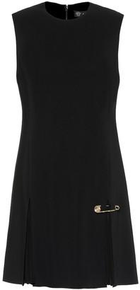 Versace Safety Pin crepe minidress