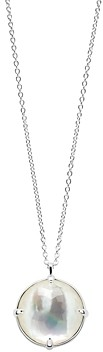 Ippolita Sterling Silver Rock Candy Clear Quartz over Mother of Pearl Doublet Pendant Necklace, 35