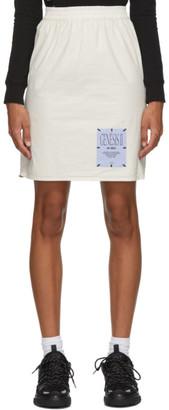 McQ Off-White Cotton Toggle Skirt