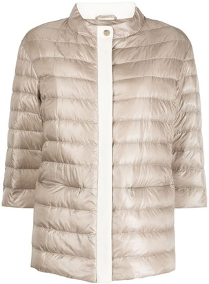 Herno Funnel-Neck Quilted-Down Jacket