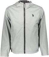 U.S. Polo Assn. Heather Gray Small Logo Hooded Windbreaker