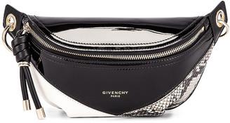 Givenchy Mini Whip Belt Bag in Black & White   FWRD