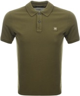 C.P. Company Short Sleeved Polo T Shirt Green