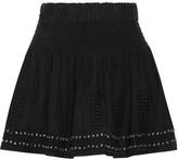 Etoile Isabel Marant Alea Embellished Cotton-blend Gauze Mini Skirt - Black